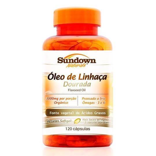 Óleo de Linhaça Dourada (Flaxseed Oil) 1000mg  (120caps) - Sundown