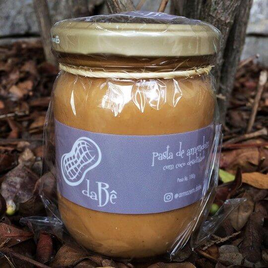 Pasta de Amendoim com Coco Desidratado (180g) - da Bê