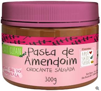 Pasta de Amendoim Crocante com Sal do Himalaia 300g - Eat Clean