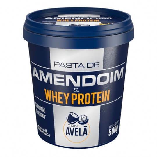 Pasta de Amendoim e Whey Protein com Avelã (450g) - Mandubim