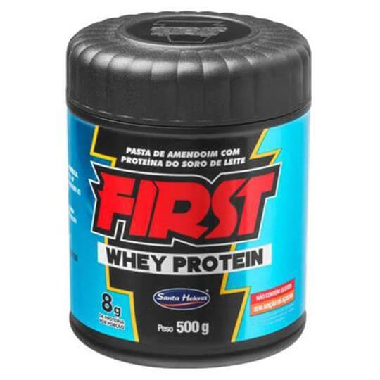 Pasta de Amendoim First Whey Protein (500g) - Santa Helena