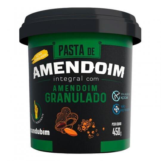 Pasta de Amendoim Integral com Granulado (450g) - Mandubim