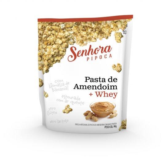Pipoca Pasta de Amendoim + Whey 90g - Senhora Pipoca