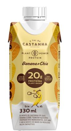 Plant Power Protein Banana e Chia 330ml - A Tal da Castanha