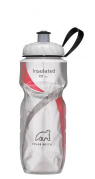 Garrafa Térmica Prata c/ Vermelho (590ml) - Polar Bottle