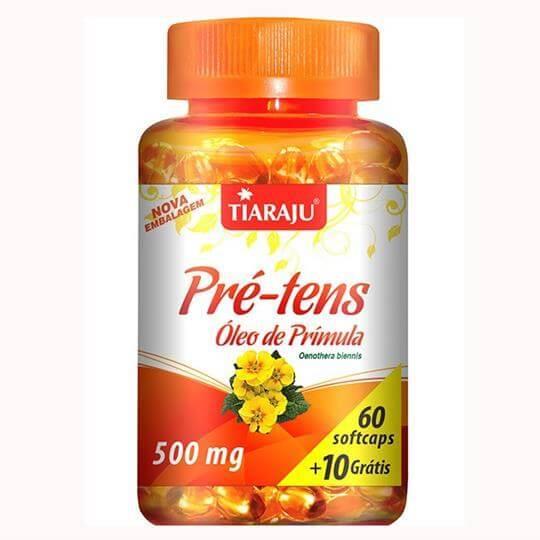 Pré-Tens (Óleo de Prímula) 500mg (60caps + 10 Grátis) - Tiaraju