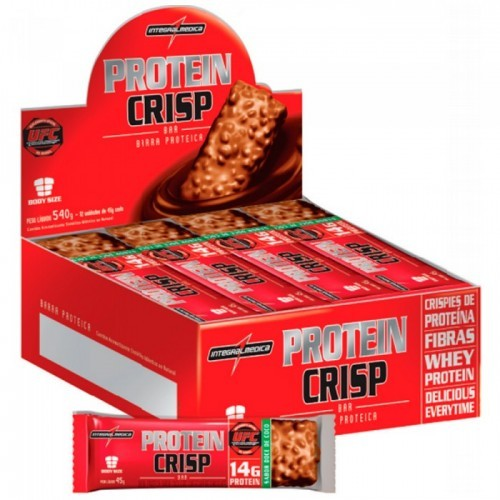 Protein Crisp Bar (12unid-45g) IntegralMedica-CheeseCake de Frutas Vermelhas