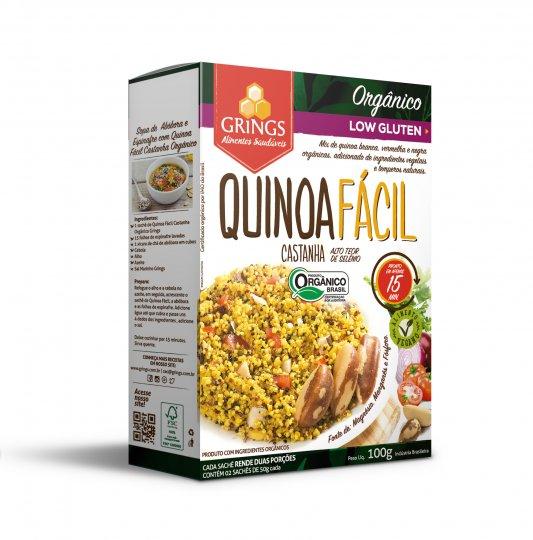 Quinoa Facil Castanha 100g - Grings