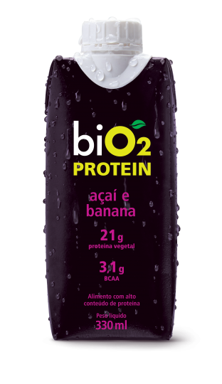 Shake Protein Açaí e Banana 330ml - BiO2