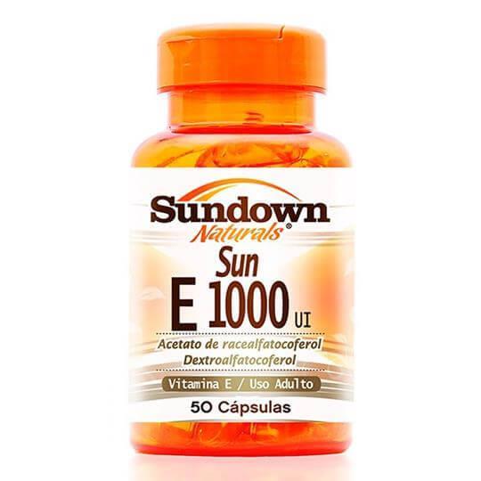 Sun E 1000 UI (Vitamina E) (50caps) - Sundown