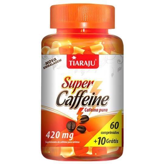 Super Caffeine 420mg (60caps + 10 Grátis) - Tiaraju