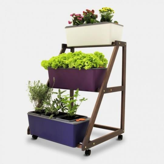 Triplo Suporte para Hortas - Cultive
