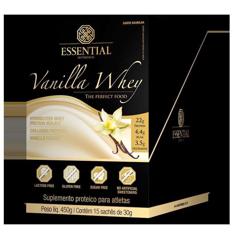Vanilla Whey (15 Sachês-30g) Essential Nutrition