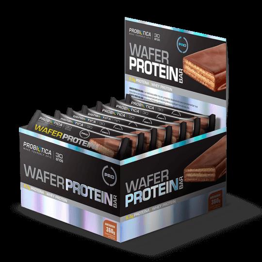 Wafer Protein Bar (12unid-30g) Probiótica-Chocolate com Avelã