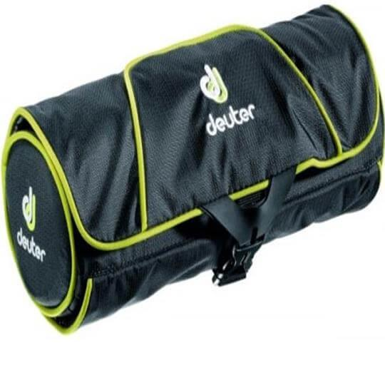 Necessaire Wash Bag Roll (Preta/Verde) - Deuter