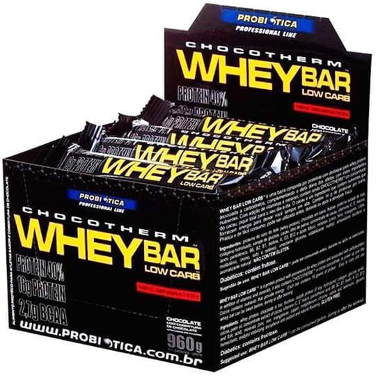 Whey Bar Low Carb (caixa c/ 24 barras) - Probiótica - Chocolate