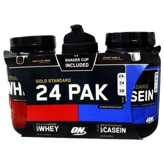 Whey Protein 943g + Casein 909g + Coqueteleira Shaker - Optimum Nutrition