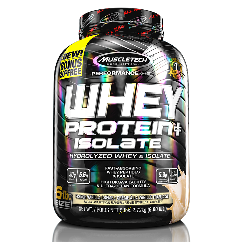 Whey Protein + Isolate (2720g) MuscleTech-French Vanilla Creme