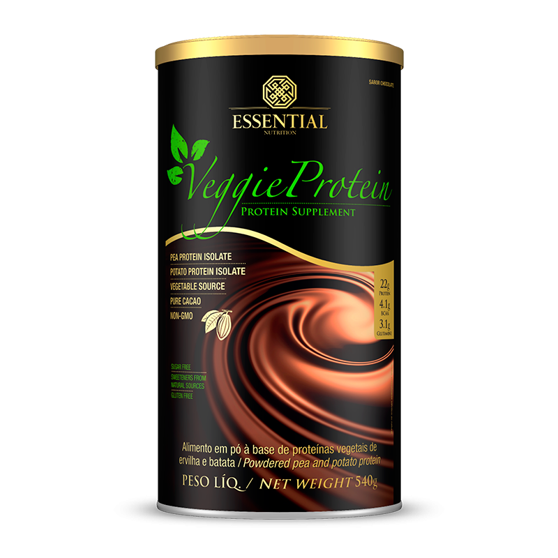 Veggie Protein (455g) Essential Nutrition-Cacao