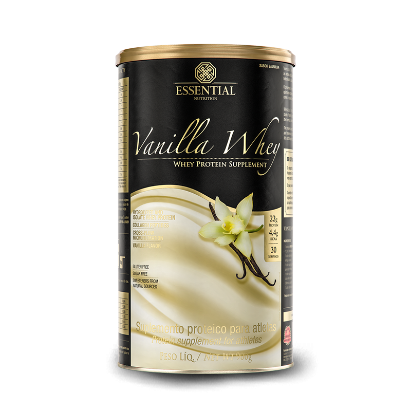 Vanilla Whey (900g) Essential Nutrition-Baunilha