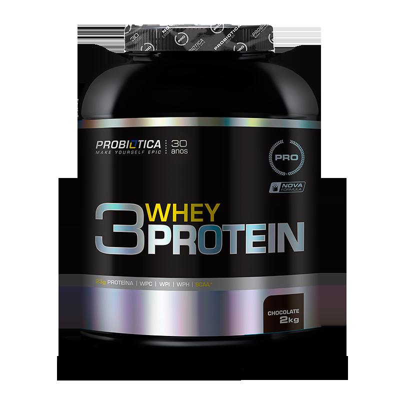 3 Whey Protein (2kg) Probiótica-Chocolate