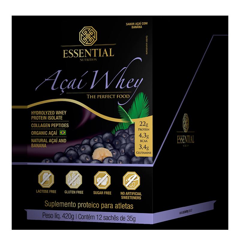 Açai Whey (12sachês-35g) Essential Nutrition
