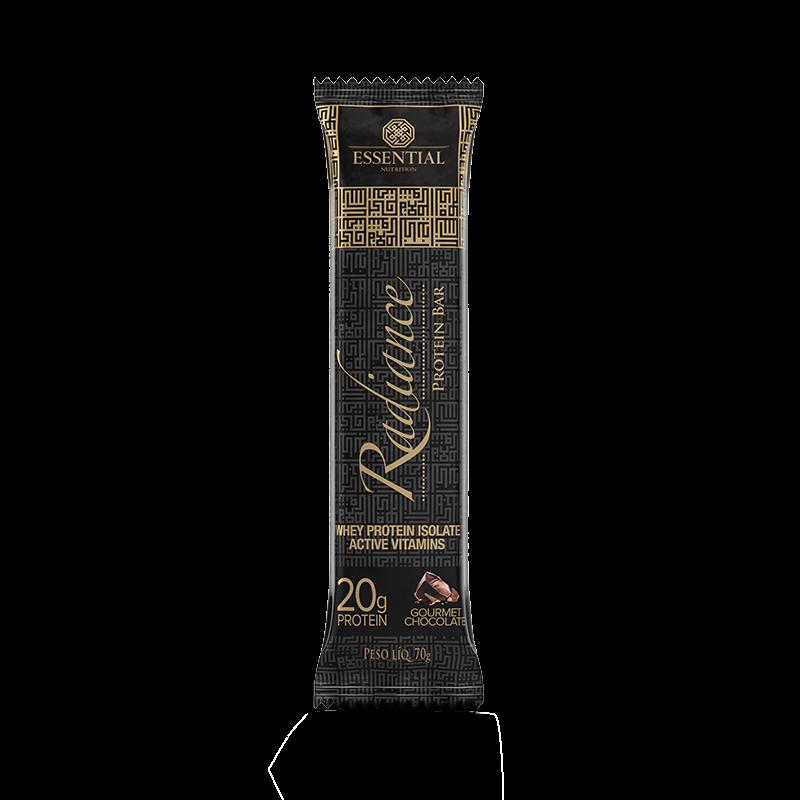Radiance Protein Bar (Unidade-70g) Essential Nutrition-Gourmet Chocolate