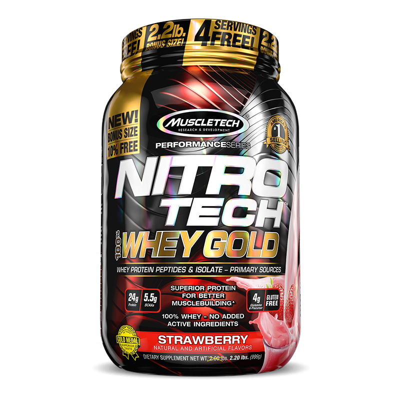 Nitro Tech 100% Whey Gold (999g) MuscleTech-Chocolate Duplo (1020g)
