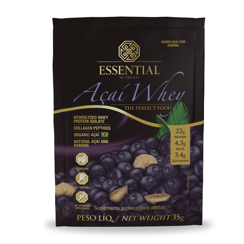 Açai Whey (Sachê-35g) Essential Nutrition