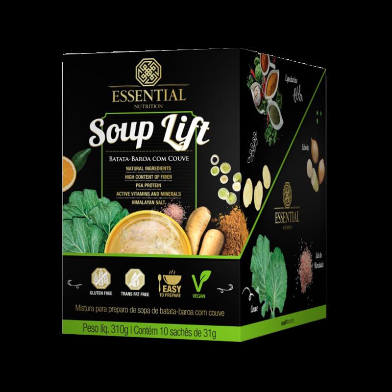 Soup Lift (10 sachês-31g) Essential Nutrition-Frango com Batata Doce