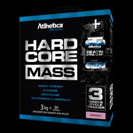 Hardcore Mass (3kg) + Creatina (60caps) Atlhetica Nutrition