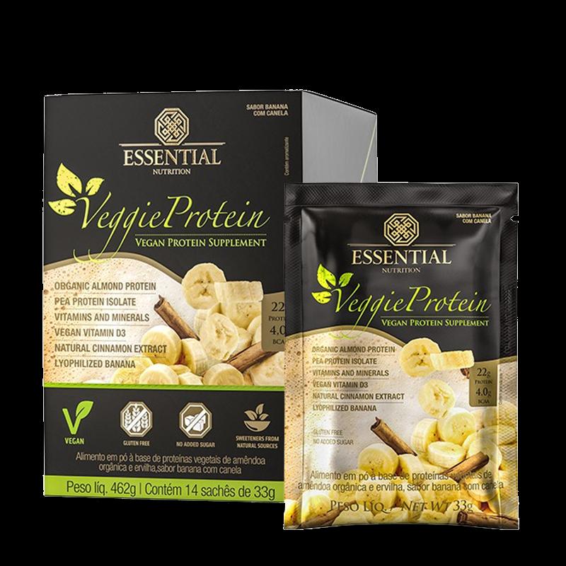 Veggie Protein (14 Sachês-33g) Essential Nutrition-Banana com Canela