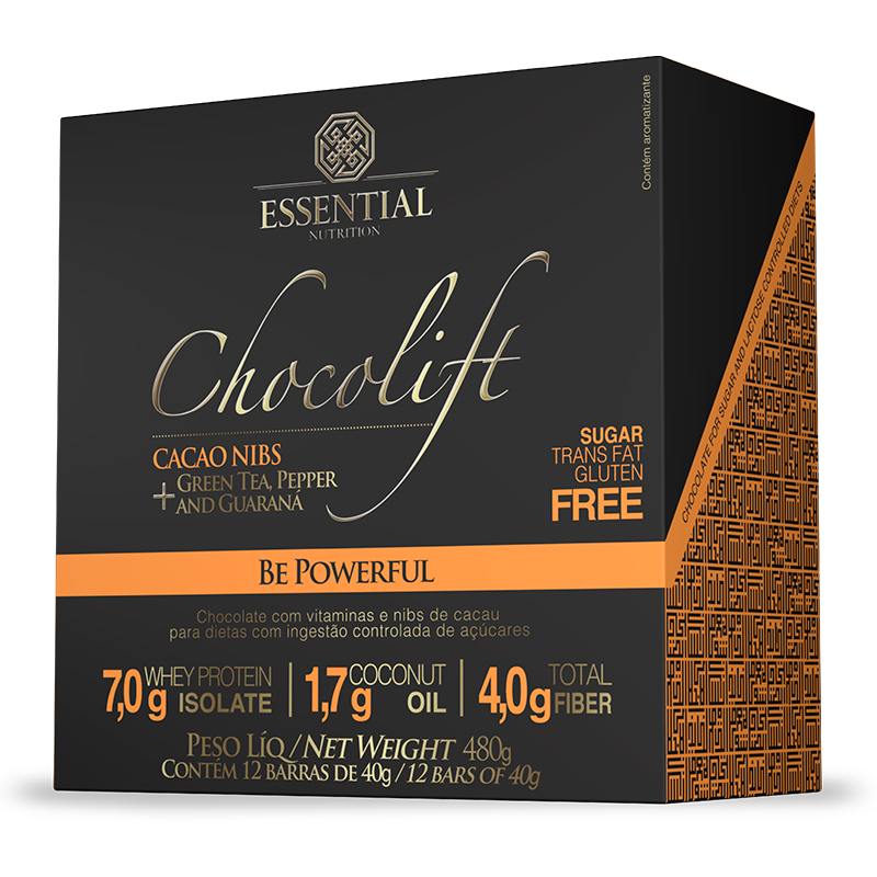 Chocolift Be Powerfull (12unid-40g) Essential Nutrition