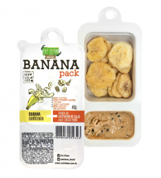 Banana Pack Castanha Cacau e Nibs 46g - Eat Clean