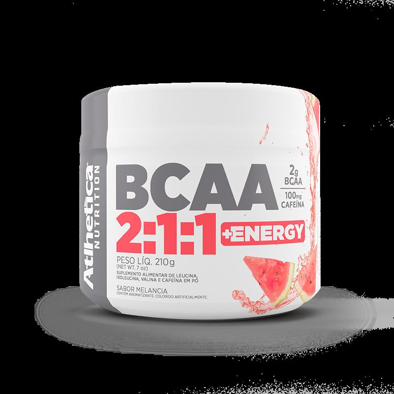 BCAA 2:1:1 + Energy (210g) Atlhetica Nutrition-Maça Verde