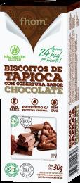 Biscoito de Tapioca c/ Chocolate 30g 2 unidades - Fhom