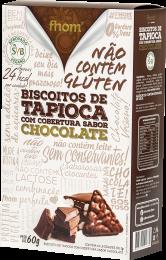 Biscoito de Tapioca c/ Chocolate 60g - Fhom