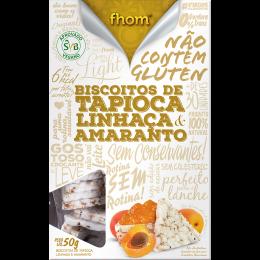 Biscoito de Tapioca c/ Linhaca e Amaranto 50g - Fhom