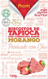 Biscoito de Tapioca c/ Morango 60g - Fhom