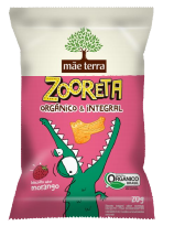 Biscoito Zooreta Morango 20g - Mãe Terra