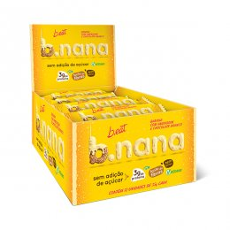 B.nana Amendoim com Chocolate Branco Display 12x35g - B-Eat