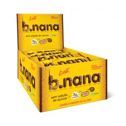 B.nana Amendoim com Chocolate Display 12x35g - B-Eat