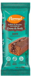 Bolinho Integral Chocolate Recheio de Avelã 40g - Flormel