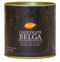 Bombom Belga 54% Cacau Recheio Creme Extra Cacau e Crisp de Whey 150g - Flormel