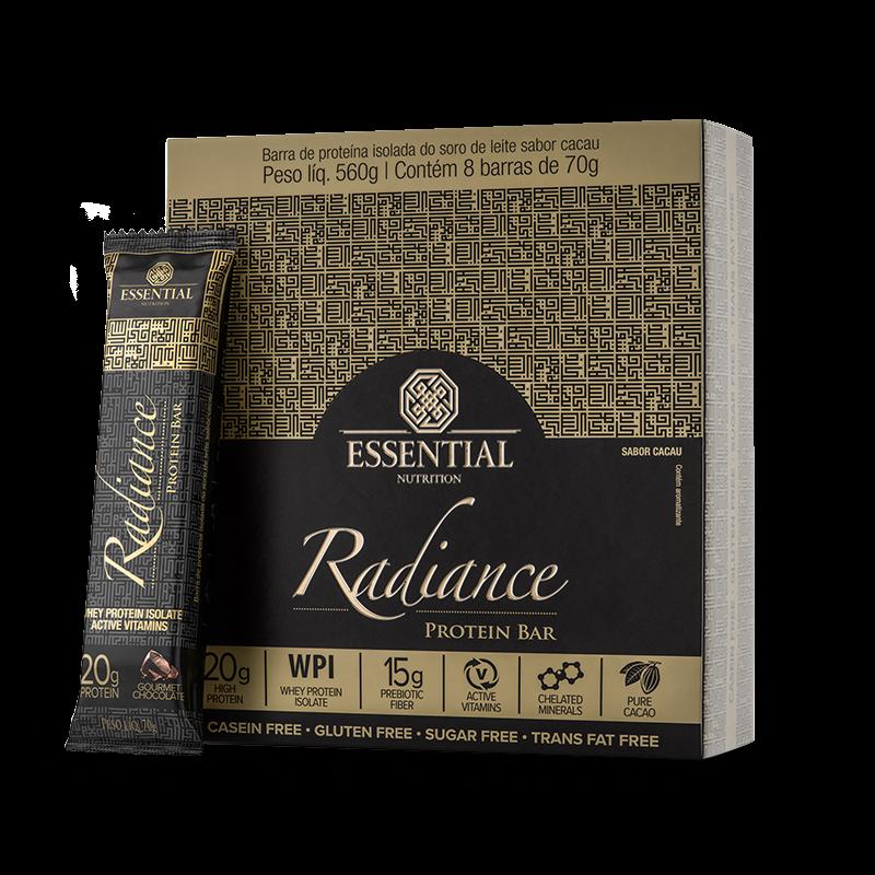 Radiance Protein Bar (8unid-70g) Essential Nutrition-Gourmet Chocolate