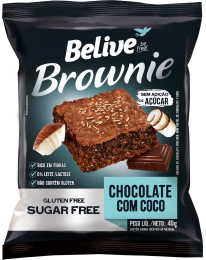 Brownie Chocolate com Coco 40g - Belive