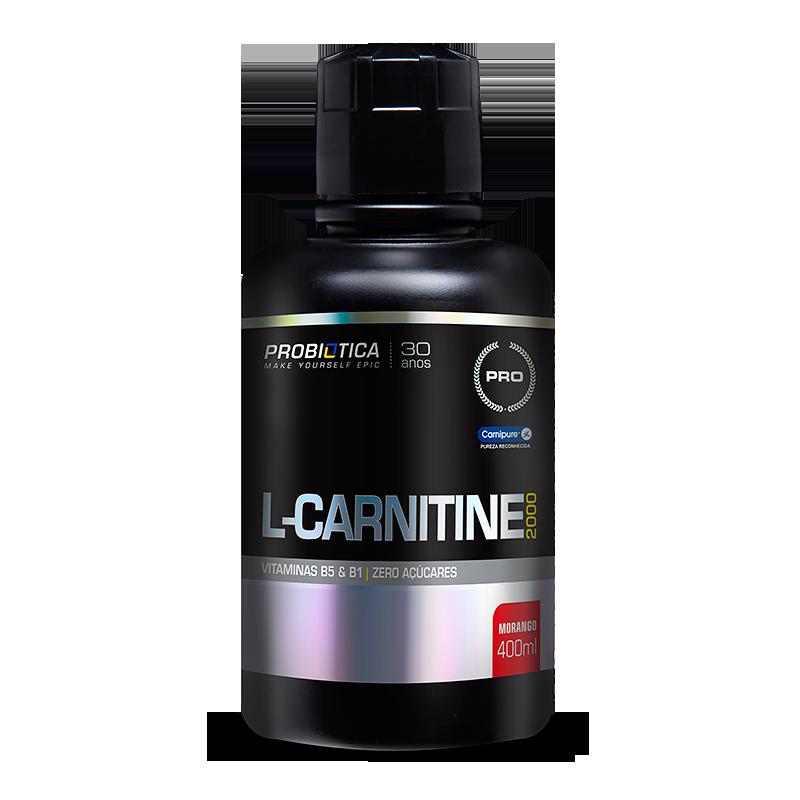 L-Carnitina 2000 (400ml) Probiótica -Laranja