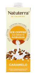 Café Gelado com Bebida de Amêndoas Sabor Caramelo 1L - Natuterra