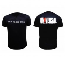 Camiseta Gola V (preta) - Universal Nutrition