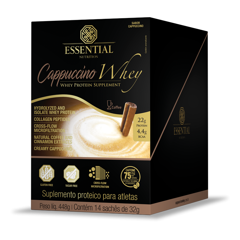 Cappuccino Whey (14 sachês-32g) Essential Nutrition